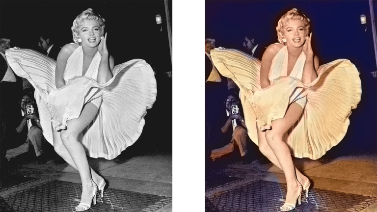 Marilyn Monroe colorized with Deep Art Effects Pro for Desktop